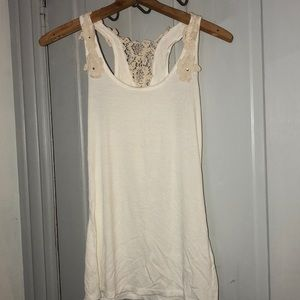 Off white lace detailed tank